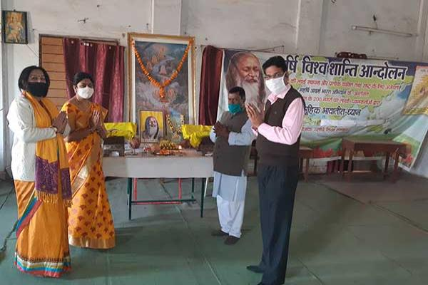 MVM School Durg Celebrated 150th birth anniversary of His Divinity Gurudev Brahmaleen Shankaracharya of Jyotirmath Shri Swami Brahmanand Saraswati Ji Maharaj.